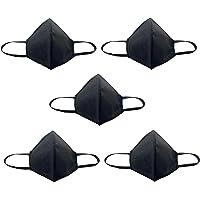 Set di 5 mascherine nere a coppetta