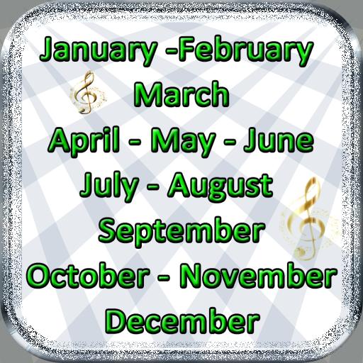 Monate Englisch