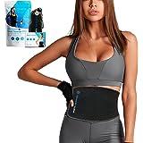 Sports Laboratory Midja Trainer PRO + för män och kvinnor - Idealisk svettbälte för viktminskning och hållning under träning