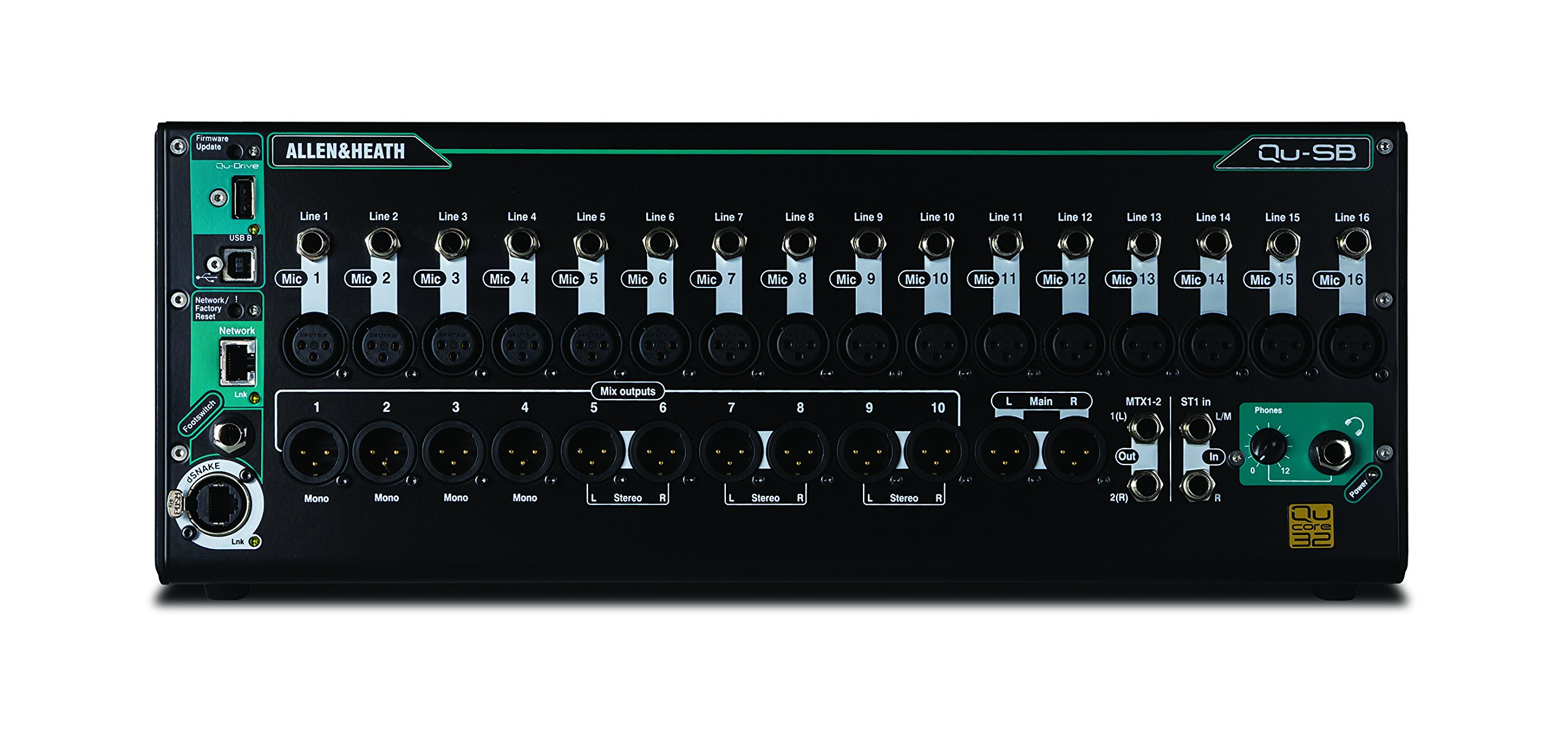 Allen & heath qu-sb Portable 18-in/14-out mixer digitale con telecomando wireless controllo