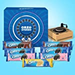Cadbury Oreo Assorted Biscuits Gift Pack with Music Box, 840 g