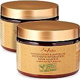 Shea Moisture Manuka Honey & Mafura Oil Intensive Hydration Hair Masque, with African Rock Fig & Baobab Oil, 12 Ounce - 2 pac