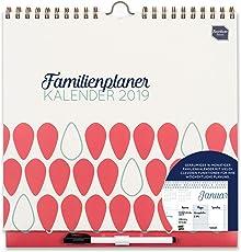 Boxclever Press 2018/19 Familienplaner Kalender. Akademischer Familienkalender mit Wochenansicht, 6 Spalten und zusätzlichen Extras. 16-monatige Laufzeit von September 2018 bis Dezember 2019