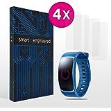 smart engineered Schutzfolie kompatibel mit Samsung Gear Fit 2 [4 Stück] Premium Schutz volle Abdeckung [Made in Germany] blasenfreie Aufbringung [HD-Klar] Wasser- & schmutzabweisend [kein Ablösen]