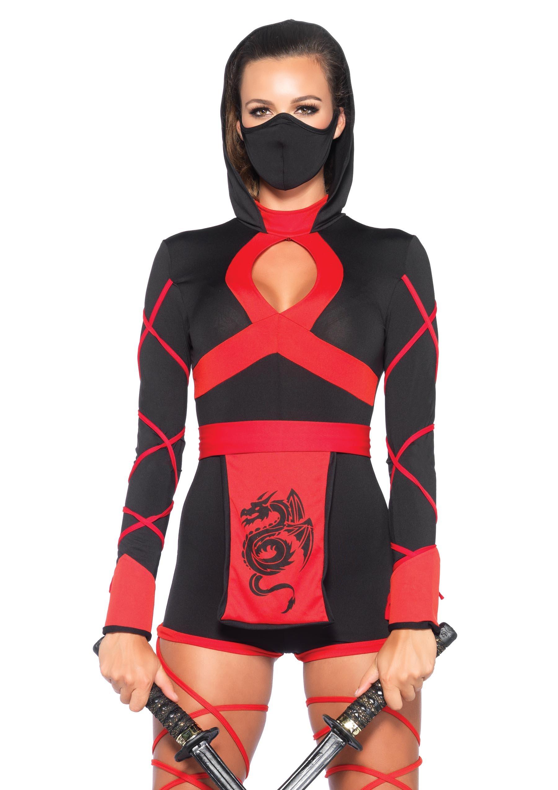 LEG-AVENUE-85401-Dragon-Ninja-Damen-kostm-Gre-Small-EUR-36-Karneval-Fasching