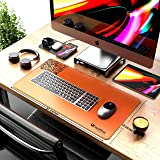 UK leather creation Extended Mouse Pad/Desk Mat for Work from Home/Office/Gaming | Vegan Leather | Anti-Skid, Anti-Fungus,Ant