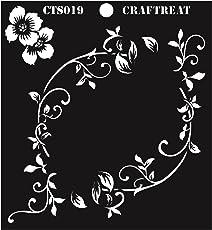 "CrafTreat Flourish Circle Stencil 6""X6"""