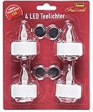 Hillfield 4 Stück LED-Teelichter/inkl. 4X CR2032 Batterien