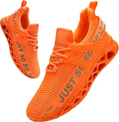 BUBUDENG Trainers for Mens Athletic Running Shoes Walking Shoes Casual Lace Up Shoes Sneakers