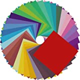 House of Craft - Coloured 15 cm x 15 mm Origami Sheets Construction/Fluorescent/Glaze Paper Multi Color for Origami, Scrap Bo