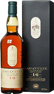Lagavulin 16 Jahre Single Malt Scotch Whisky – Trockener und rauchiger Islay Whisky mit langem, torfigem Abgang – In traditio