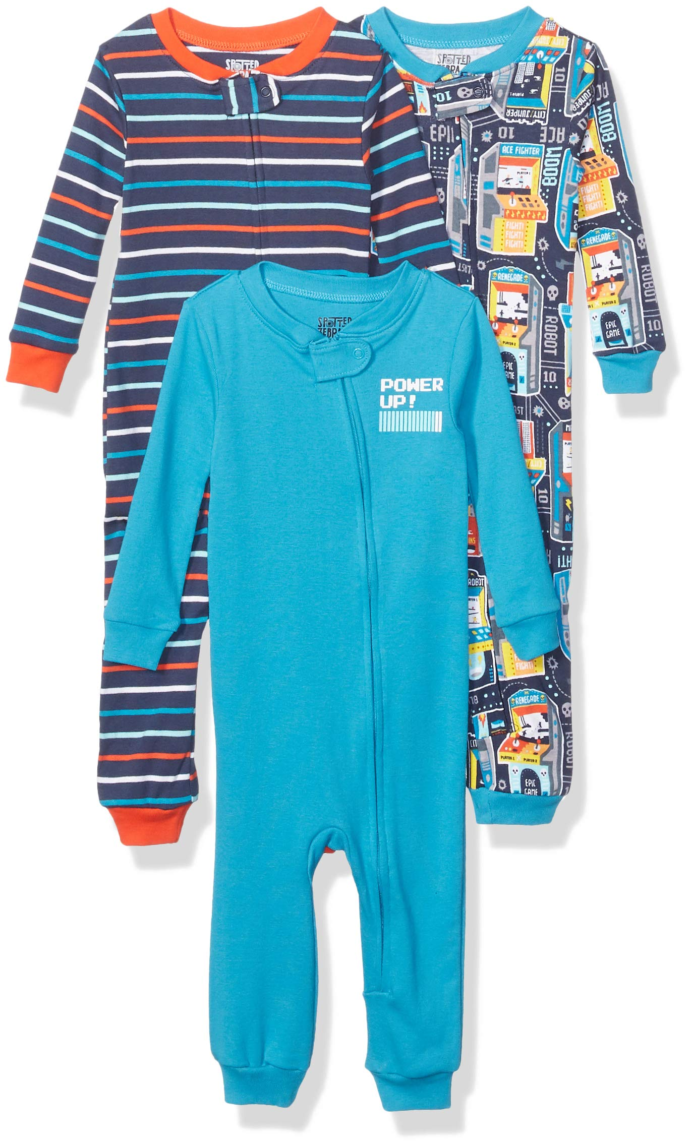 Marca Amazon - Spotted Zebra 3-Pack Snug-fit Cotton Footless Sleeper Pajamas Unisex bebé 1
