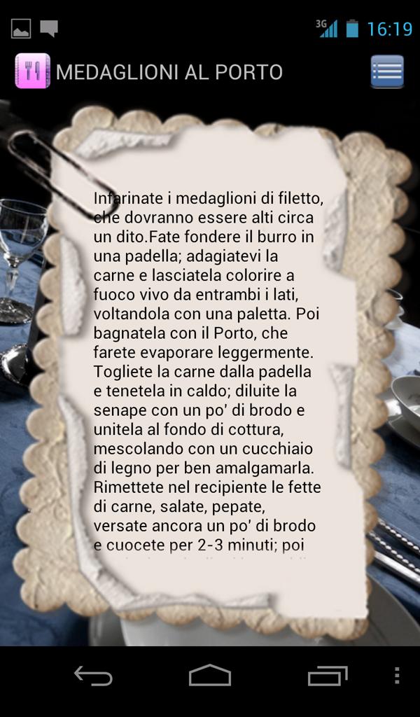 Ricette Screenshot