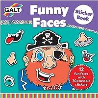 Galt - Funny Faces Sticker Book 3 Yaş+ Aktivite Kitabı (A3069A)
