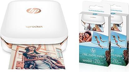 HP Sprocket mobiler Fotodrucker weiß + 50 Blatt HP ZINK