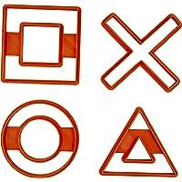Set di 4 Tagliabiscotti formine con le icone del controller della Playstation