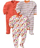 Online Choice Long Sleeve Cotton Full Body Sleep Suit, Set of 3
