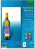 Sigel DE160 Lot de 20 Étiquettes bouteilles personnalisables, autocollants, 8 x 12 cm