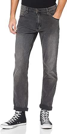 Wrangler Men's Authentic Straight Jeans, Grey, 34 W/30 L