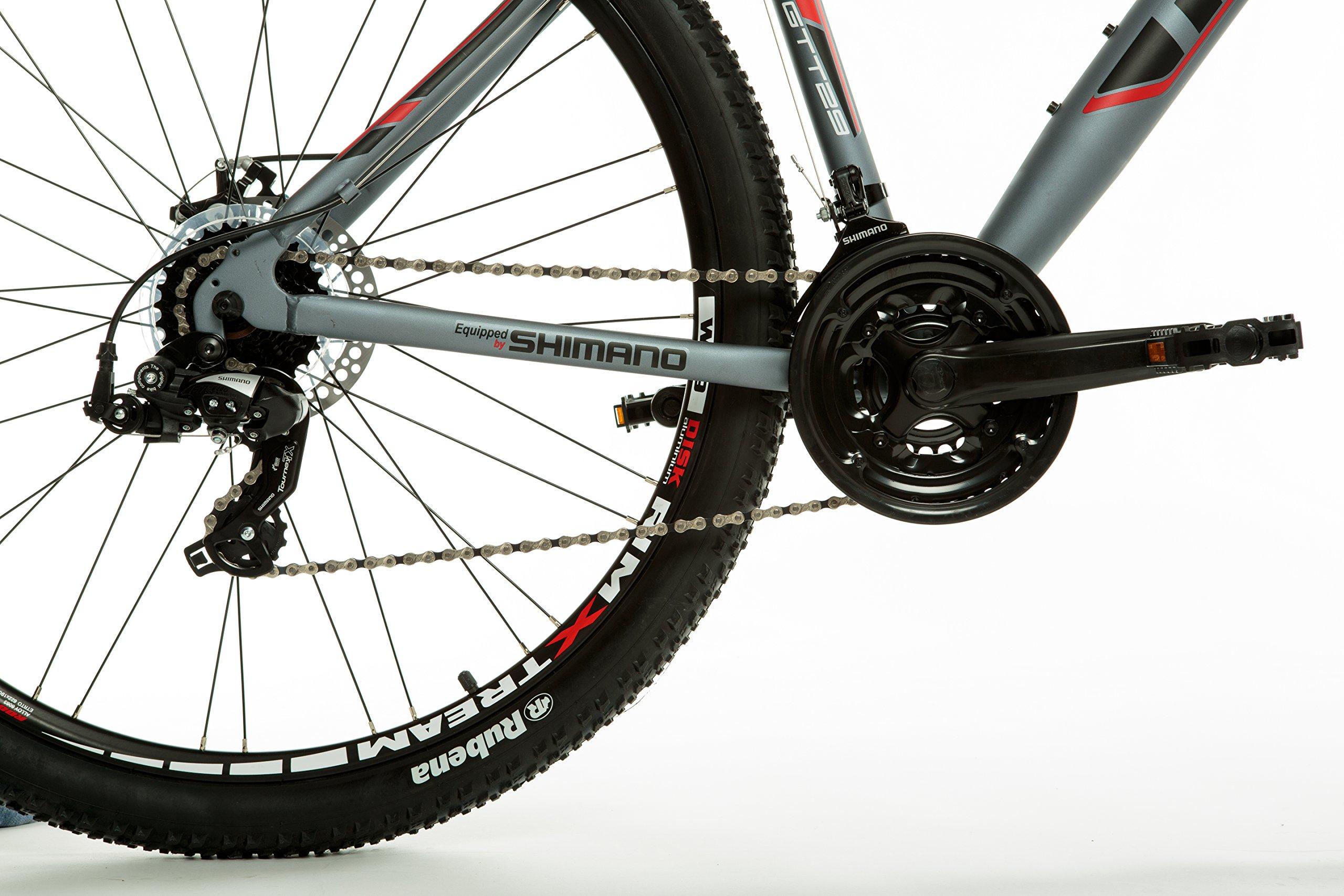 """Moma Bikes, Bicicletta Mountainbike 29"""" MTB Shimano, Alluminio, Doppio Disco e Doppia Sospensione"""