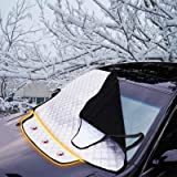 FREESOO Car Sun Shade Windscreen Cover UV Front Screen Cover Magnetic Windshield Protector Aluminum Shield Screen Keep…