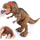 Baztoy Dinosaurios Juguetes, Dinosaurio Teledirigido con Movimiento, Luz y Rugido Realista, Juguete Radiocontrol para Niñas 2