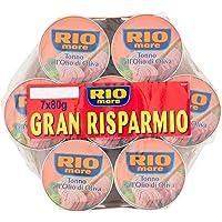 Rio Mare - Tonno all'Olio di Oliva, Qualità Pinne Gialle, 7 Lattine da 80 g