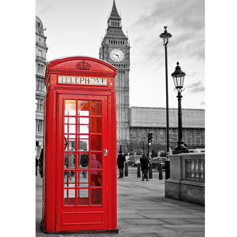 poster / tela - cabina telefonica - big ben - londra - london uk ... - Cabina Telefonica