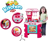 Popsugar Luxury Kitchen Set with Griller, Toaster, Lighting Stove and Accessories for Kids,