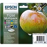 Epson T129 Serie Mela, Cartuccia Originale Getto d'Inchiostro DURABrite Ultra, Formato Standard, Multipack 4 Colori, con Amaz