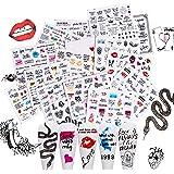 32 Vellen Snake Pattern Nail Art Stickers, EBANKU Nail Water Transfer Lips Flowers Letter Skull Nail Decals Snake Nail Sticke