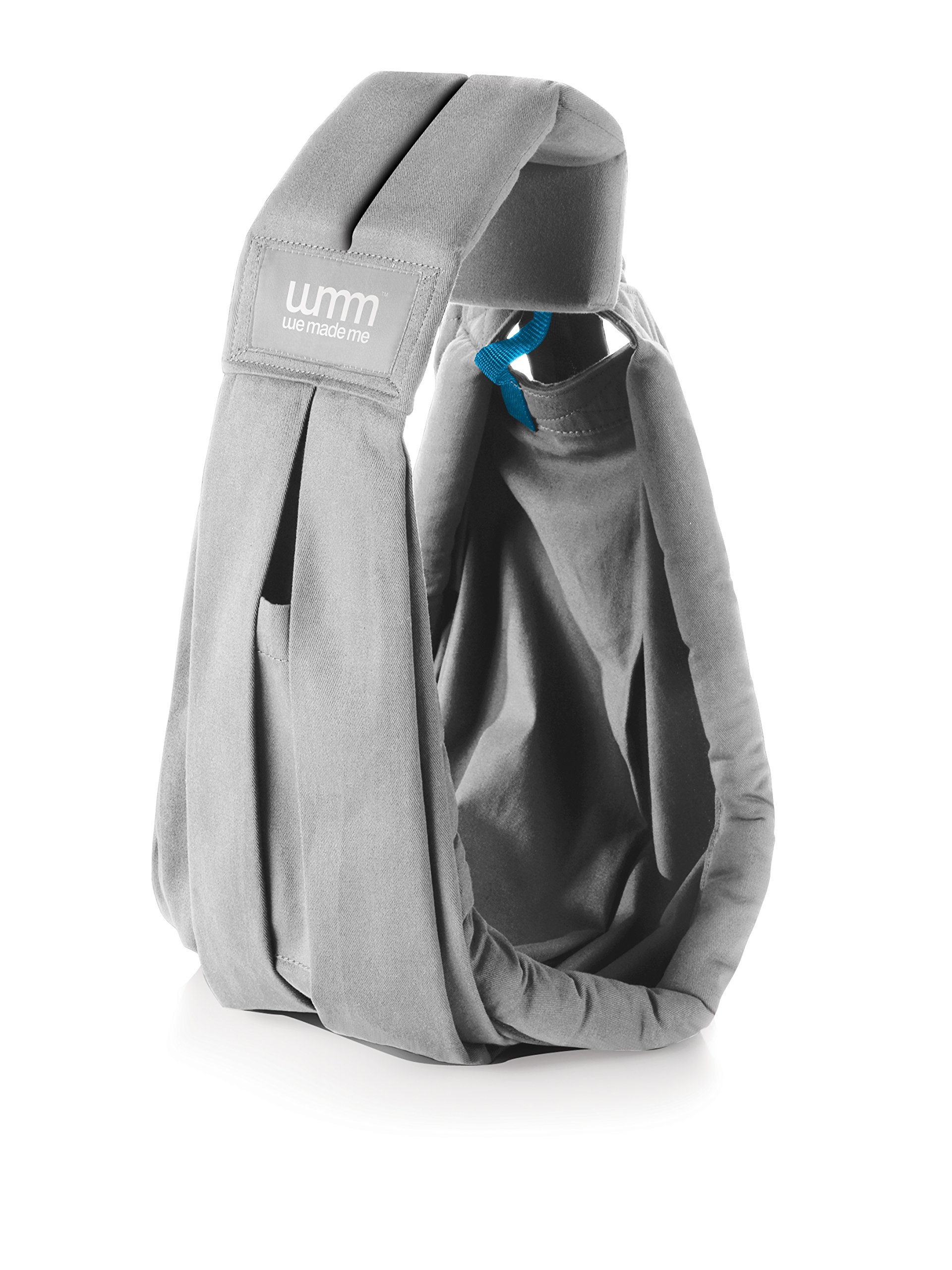 We Made Me Soohu Sling Dolphin Grey We Made Me Designed to carry babies and toddlers from birth to 2 years+ (3.5-15kg) Five different carrying positions including two perfect for discreet breastfeeding Handmade with the highest quality cotton, machine washable at 40 degrees 1