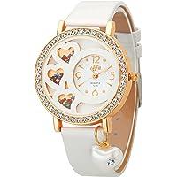 DFa Analogue Women's Watch (Gold Dial White Colored Strap)