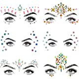 SHINEYES 6 PCS Mermaid Face Gems Glitter,Rhinestone Rave Festival Face Jewels,Crystals Face Stickers for Eyes Face Body…