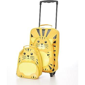 Bagage pour les enfants Bagages pour les enfants Suit le sac à bagages Travel Trolley and Backpack Set (Tigre Chariot / Sac à dos)