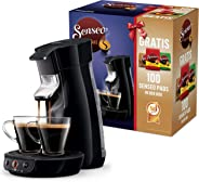 Philips Senseo Viva Cafe HD6561/67 Nr. 1 Kaffepadmaschine mit 100 Pads in der Box (schwarz), Kunststoff