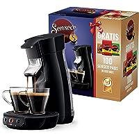 Philips Senseo Viva Cafe HD6561/67 Machine à café avec 100 dosettes dans la boîte Noir Plastique