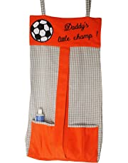 Kadambaby Diaper Stacker Li'l Champs, Orange/Grey