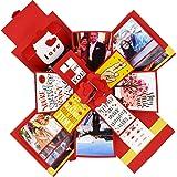 Decut Handmade Explosion Box for Birthday Anniversary Wedding All Occasion, Red