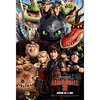 HOW TO TRAIN YOUR DRAGON THE HIDDEN WORLD FILM POSTER A4 A3 A2 A1 CINEMA MOVIE 2