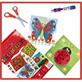 WONDRBOX Scissor Craft Activity Kit for Kids Age 3 4 5 6 Girls and Boys | Each Pack Includes: 12 DIY 3D Paper Crafts, Child-S