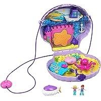 Polly Pocket Coffret Sac à Main Le Coquillage Enchanté avec mini-figurines Polly et Lila, accessoires et autocollants…