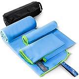 Microfibre Towel 3 Sizes in 1 Set - Microfiber Beach Towels, Quick Dry Towel, Sport Towel,Travel Towel, Camping Towel, Sweat