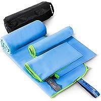 Microfibre Towel 3 Sizes in 1 Set - Microfiber Beach Towels, Quick Dry Towel, Sport Towel,Travel Towel, Camping Towel…