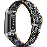 Dirrelo Elastische band, compatibel met Fitbit Charge 3 Strap/Fitbit Charge 4 Strap, zacht verstelbare elastische vervanging