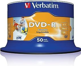 "DVD-R 16X bulk, 4.7GB Wide ink""print. Non ID Brand,50 Pack"