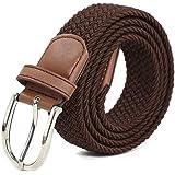 Stretch Belt for Womem Elastic Belt Braided Waistband 3.3cm Width Casual Belt Buckle Nickel free
