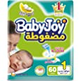 Babyjoy Stretch New Born Diapers, No Lumping - 60 Pieces