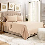 Empyrean Bedding 6 Piece Set - Hotel Luxury Silky Soft Double Brushed Microfiber - Hypoallergenic Wrinkle Free Bed Sheets - Deep Pocket Fitted Sheet, Top Sheet, 4 Pillow Cases.