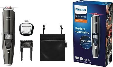 Philips Bartschneider Series 9000 mit Laser Guide für präzises Trimmen BT9297/15 (17 Längeneinstellungen)